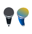 wireless microphones vector image vector image