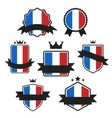 World Flags Series Flag of France vector image