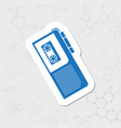 dictaphone flat icon vector image