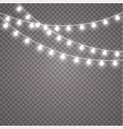 glowing lights for holidays transparent glowing vector image