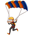 A man enjoying the parachute vector image vector image