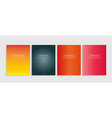 a4 covers collection with modern abstract color vector image vector image