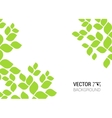 abstract background with green sheet Background vector image vector image