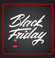 black friday poster with text in red frame sale vector image