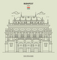 building of the hungarian state opera house vector image