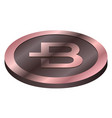 bytecoin virtual money currency cryptocurrency vector image vector image