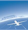 cape town skyline flight destination vector image vector image