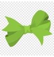 Cartoon bow green sign vector image