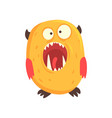 cartoon character monster letter o vector image vector image