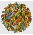 Cartoon picnic doodle vector image vector image