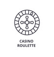 casino roulette line icon outline sign linear vector image vector image