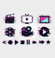 cinema icons set signs collection vector image