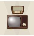 colorful retro tv design vector image