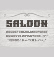 decorative vintage bold serif font on the vector image vector image