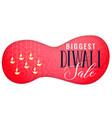 diwali sale banner with hanging diya art vector image vector image