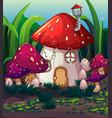 enchanted magic mushroom house vector image