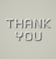 EPS10 thank you dotted inscription vector image vector image