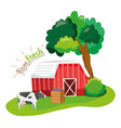 farm fresh concept vector image