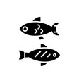 fish - small icon black sign vector image