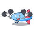 fitness zeppelin character cartoon style vector image