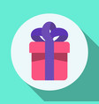 flat colorful gift box icon with baw vector image