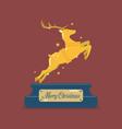 golden christmas reindeer vector image vector image
