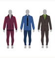 gray silhouette figure in a suit shirt costume vector image vector image