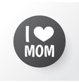 i love mom icon symbol premium quality isolated vector image vector image