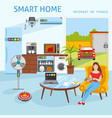 Internet of things smart home concept vector image vector image
