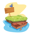 Island with Dinghy vector image
