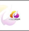 leaf cloud logo vector image vector image