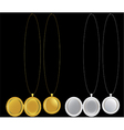 Locket and medallion necklaces in silver and gold vector image vector image