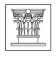 logo template column decorative element vector image