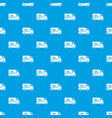 mail truck pattern seamless blue vector image vector image