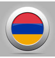 metal button with flag of Armenia vector image