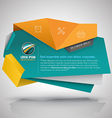 Modern banner 3D style vector image vector image