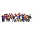 multinational group people isolated vector image vector image