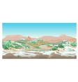 Natural desert landscape valley in early spring vector image vector image