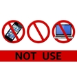 No signs not use simbols vector image
