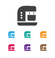 of food symbol on coffee maker vector image