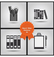 Office supplies icon set vector image vector image