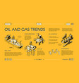 oil industry trends landing page isometric vector image vector image