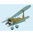 old plane biplane vector image
