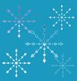 Openwork snowflakes vector image