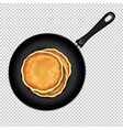 pancakes in frying pan transparent background vector image vector image