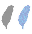 pixel taiwan island map abstractions vector image vector image