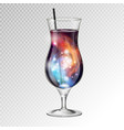 realistic cocktail tequila sunsire glass vector image