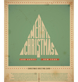 Retro Christmas Greeting Card vector image vector image