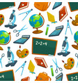 school seamless pattern of study supplies vector image vector image