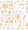 Seamless business doodle pattern vector image